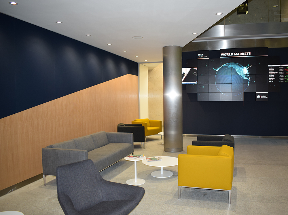 TPS Interiors - city based financial client - london stock exchange