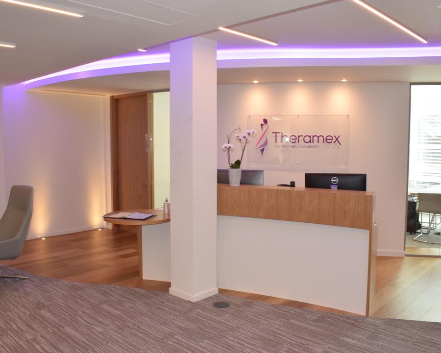TPS Interiors - Reception at Theramex
